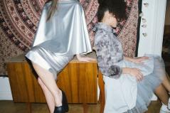 ALBINA: Skirts: Inna   Shoes: Damur   JULIA: Pullover: Inna   Skirt: Risk   available at Rauch und Groen Slow Fashion Berlin