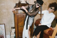 ALBINA: Blouse: Mozcau   Dress: Damur   Shoes: Damur   Sunglasses: Woody   JULIA: Pullover: 8MN   Dress: est by es  Bag: Damur   available at Rauch und Groen Slow Fashion Berlin